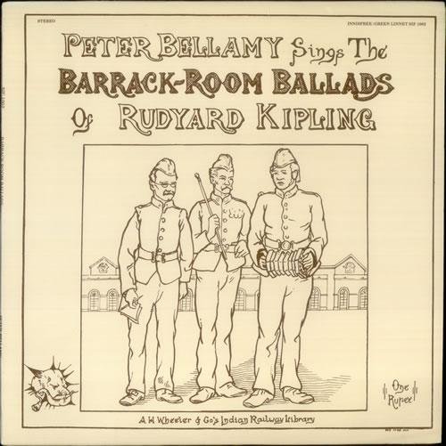 Peter Bellamy The Barrack-Room Ballads Of Rudyard Kipling vinyl LP album (LP record) US 3PBLPTH542956