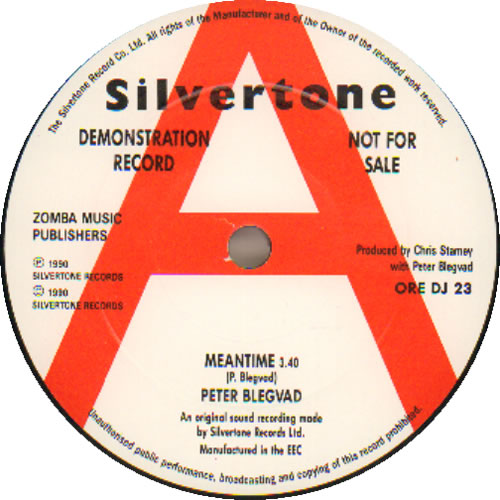 "Peter Blegvad Meantime + Press Release 7"" vinyl single (7 inch record) UK PGV07ME641168"
