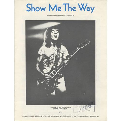 Peter Frampton Show Me The Way UK sheet music (462531) HY5061X