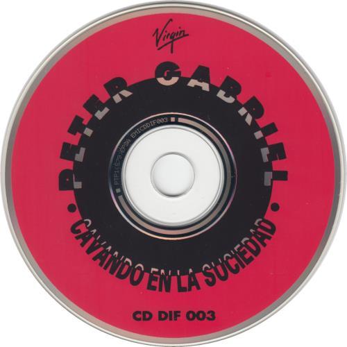 """Peter Gabriel Cavando En La Suciedad - Digging In The Dirt CD single (CD5 / 5"""") Argentinean GABC5CA279387"""