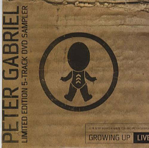 Peter Gabriel Growing Up Live - 5-Track Sampler DVD UK GABDDGR320165