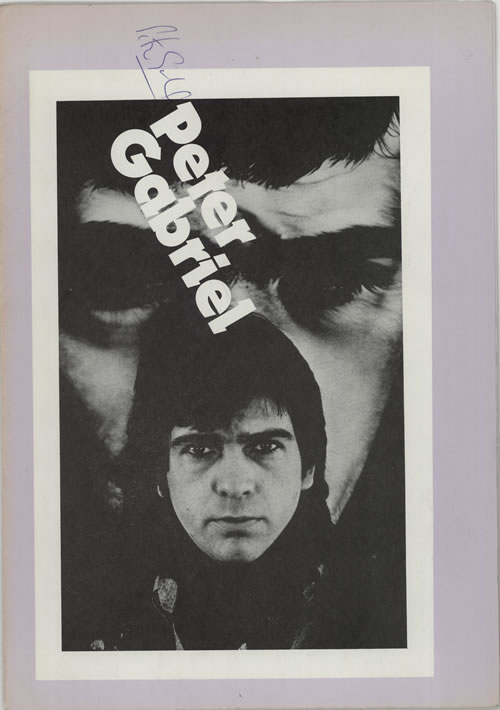 Peter Gabriel In Aid Of Bill Duffield - Signed by Peter Gabriel tour programme UK GABTRIN597034