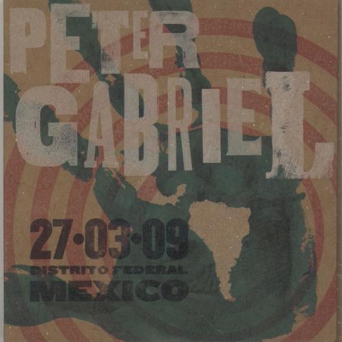 Peter Gabriel Live 2009 - 27.03.09 Distrito Federal Mexico 2 CD album set (Double CD) UK GAB2CLI755698