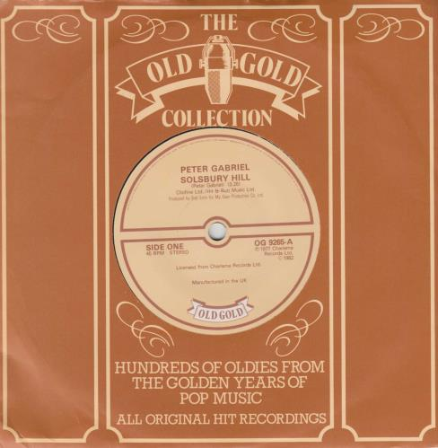 "Peter Gabriel Solsbury Hill 7"" vinyl single (7 inch record) UK GAB07SO634235"