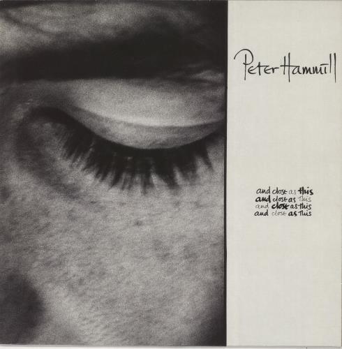 Peter Hammill And Close As This + Lyric Sheet vinyl LP album (LP record) UK HMLLPAN745946