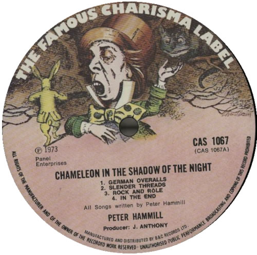 Peter Hammill Chameleon In The Shadow Of The Night - VG vinyl LP album (LP record) UK HMLLPCH586984