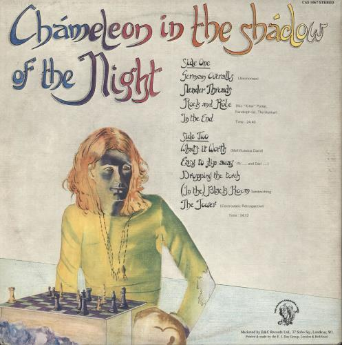 Peter Hammill Chameleon In The Shadow Of The Night vinyl LP album (LP record) UK HMLLPCH209965