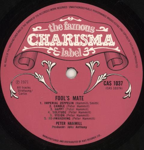 Peter Hammill Fool's Mate - 1st - VG vinyl LP album (LP record) UK HMLLPFO731371