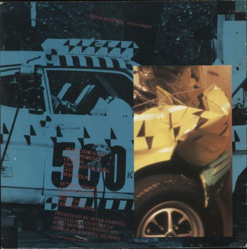 Peter Hammill Sitting Targets - Stickered Sleeve vinyl LP album (LP record) UK HMLLPSI731743