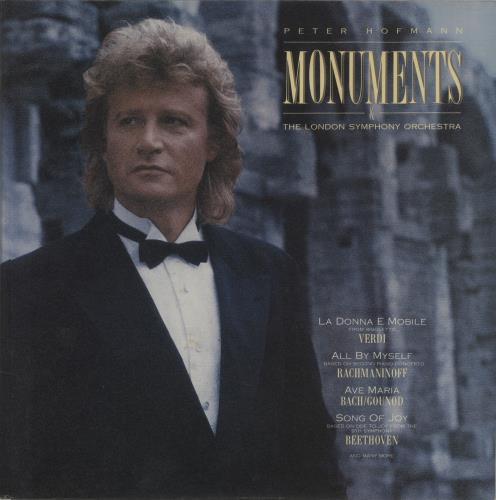 Peter Hofmann Monuments vinyl LP album (LP record) German QF8LPMO687506