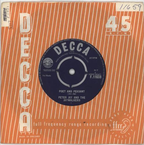 """Peter Jay And The Jaywalkers Poet And Peasant 7"""" vinyl single (7 inch record) UK JYK07PO716543"""
