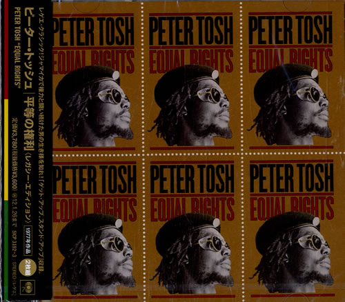 Peter Tosh Equal Rights 2 CD album set (Double CD) Japanese TOS2CEQ546535