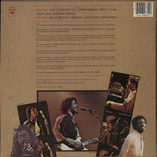 Peter Tosh Equal Rights vinyl LP album (LP record) US TOSLPEQ750809