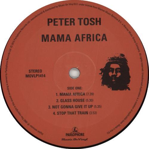 Peter Tosh Mama Africa - 180gram Vinyl vinyl LP album (LP record) Dutch TOSLPMA727645