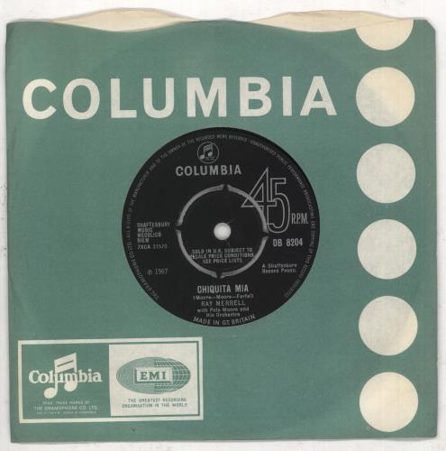 "Pete Moore Chiquita Mia 7"" vinyl single (7 inch record) UK P4107CH739079"