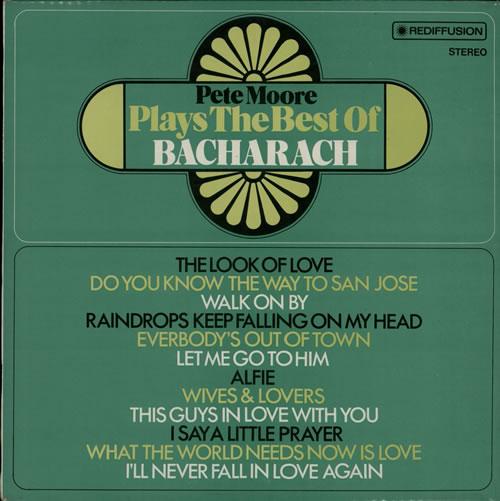 Pete Moore Plays The Best Of Bacharach vinyl LP album (LP record) UK P41LPPL577725