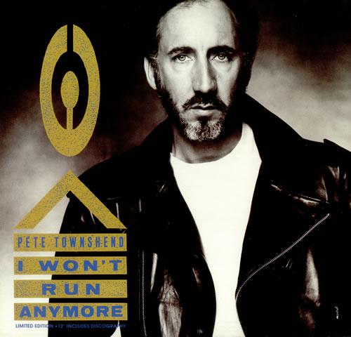 "Pete Townshend I Won't Run Anymore 12"" vinyl single (12 inch record / Maxi-single) UK TOW12IW74299"