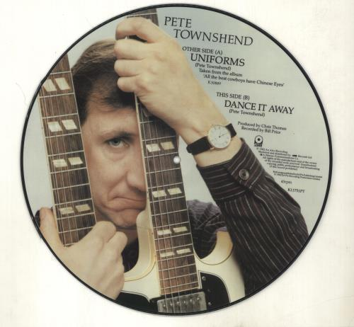 "Pete Townshend Uniforms 12"" vinyl picture disc 12inch picture disc record UK TOW2PUN34295"