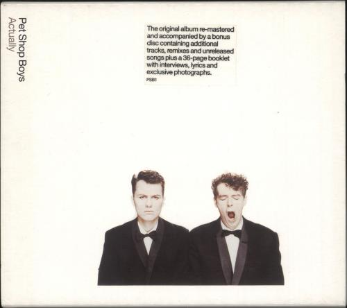Pet Shop Boys Actually + Bonus CD 2 CD album set (Double CD) UK PSB2CAC182682