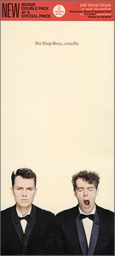 Pet Shop Boys Actually - Long Box Picture Sleeve 2 CD album set (Double CD) US PSB2CAC104036