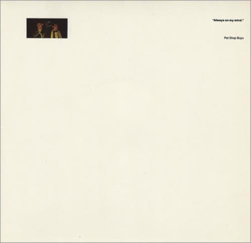 "Pet Shop Boys Always On My Mind - Double Picture Sleeve 7"" vinyl single (7 inch record) UK PSB07AL04056"