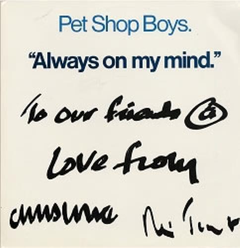 2fec6c2d8fe27 Pet Shop Boys Always On My Mind Brazilian Promo 12