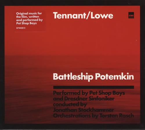 Pet Shop Boys Battleship Potemkin + Slipcase CD album (CDLP) UK PSBCDBA333930
