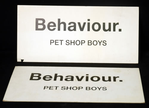 Pet Shop Boys Behaviour - Three Display Boards display UK PSBDIBE622367
