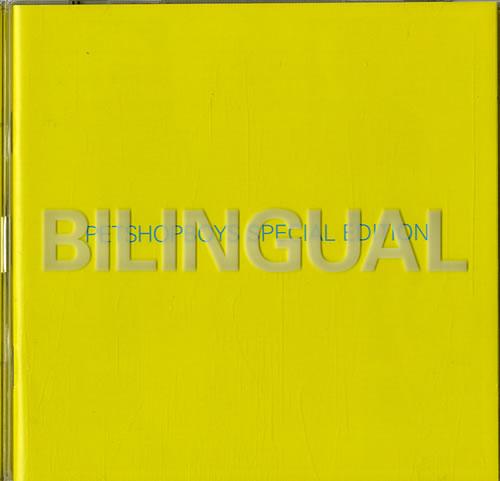Pet Shop Boys Bilingual - Special Edition 2 CD album set (Double CD) UK PSB2CBI89463