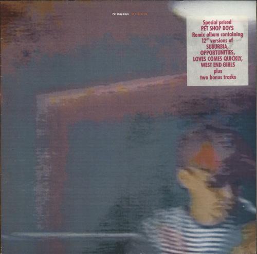 Pet Shop Boys Disco + Hype Sticker vinyl LP album (LP record) Dutch PSBLPDI495053