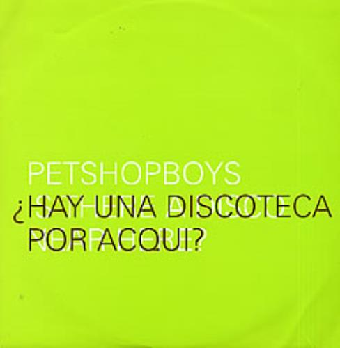 "Pet Shop Boys Discoteca - Green Sleeve 12"" vinyl single (12 inch record / Maxi-single) UK PSB12DI74313"
