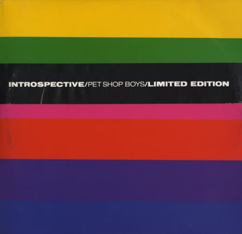"Pet Shop Boys Introspective - 3 x 12"" + Bellyband 12"" vinyl single (12 inch record / Maxi-single) UK PSB12IN04251"