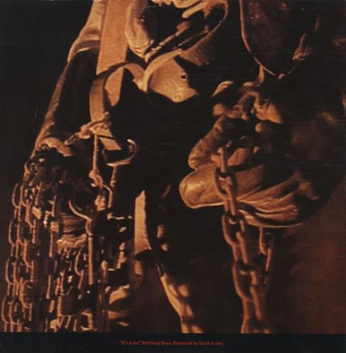 "Pet Shop Boys It's A Sin (Remix) 12"" vinyl single (12 inch record / Maxi-single) UK PSB12IT14504"
