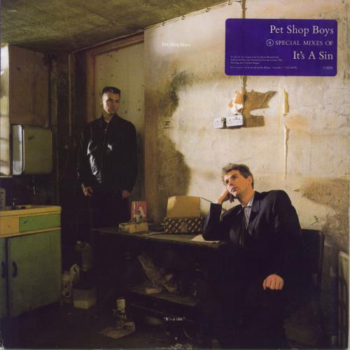 "Pet Shop Boys It's A Sin - Latin Mixes 5-trk - stickered sleeve - EX 12"" vinyl single (12 inch record / Maxi-single) US PSB12IT730014"
