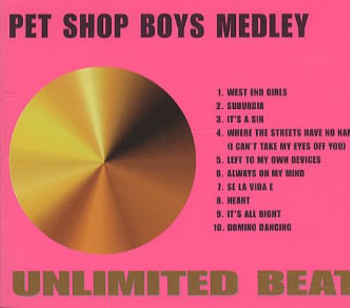 "Pet Shop Boys Medley Unlimited Beats CD single (CD5 / 5"") Australian PSBC5ME85170"