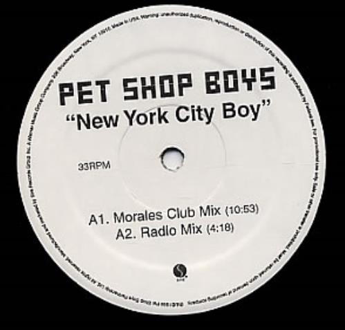 "Pet Shop Boys New York City Boy - Advance + Press Release 12"" vinyl single (12 inch record / Maxi-single) US PSB12NE145806"