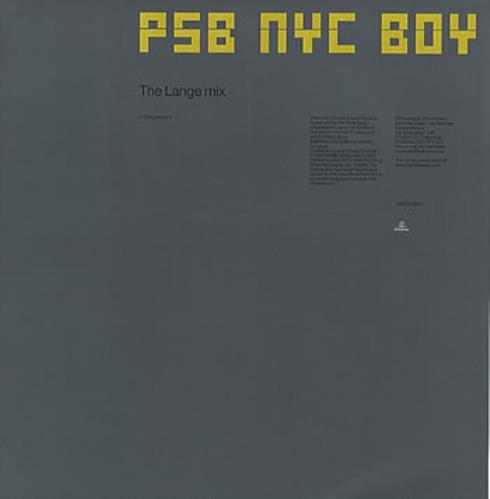 "Pet Shop Boys Nyc Boy - The Lange Mix - 4th Promo 12"" vinyl single (12 inch record / Maxi-single) UK PSB12NY145141"