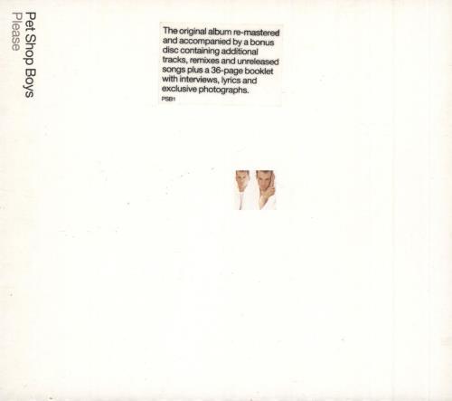 Pet Shop Boys Please + Bonus CD 2 CD album set (Double CD) UK PSB2CPL182681