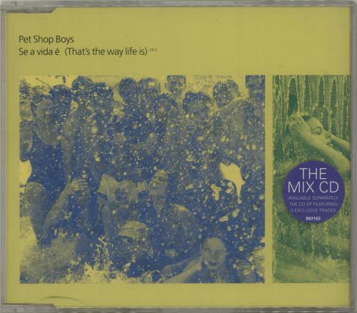 "Pet Shop Boys Se A Vida E [That's The Way Life Is] - CD2 CD single (CD5 / 5"") UK PSBC5SE70929"