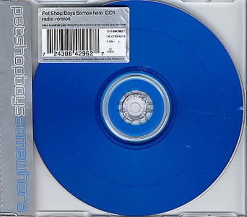 "Pet Shop Boys Somewhere - CD 1 [Blue] CD single (CD5 / 5"") UK PSBC5SO88187"