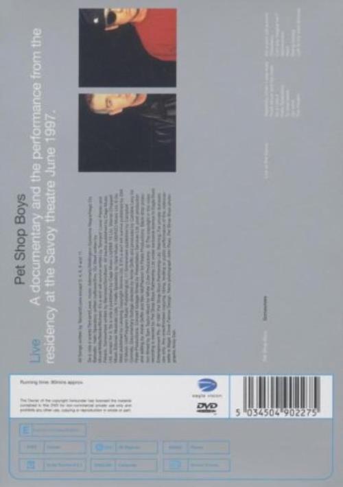 Pet Shop Boys Somewhere DVD UK PSBDDSO232501