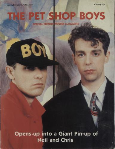 Pet Shop Boys Special Edition Poster Magazine UK poster