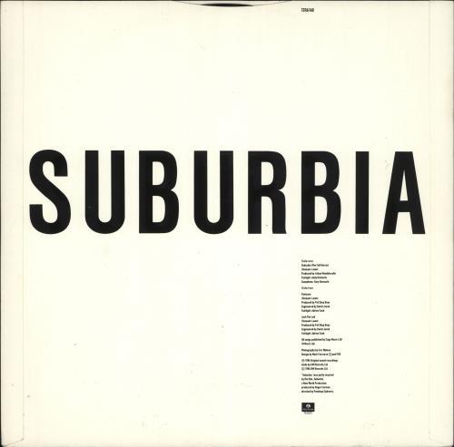 "Pet Shop Boys Suburbia (The Full Horror Mix) 12"" vinyl single (12 inch record / Maxi-single) UK PSB12SU11436"