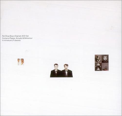Pet Shop Boys The Originals CD Album Box Set UK PSBDXTH87900