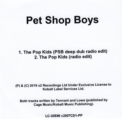 Pet Shop Boys The Pop Kids - Remixed CD-R acetate UK PSBCRTH651961
