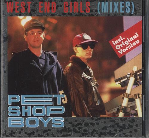 """Pet Shop Boys West End Girls - Mixes CD single (CD5 / 5"""") German PSBC5WE10137"""