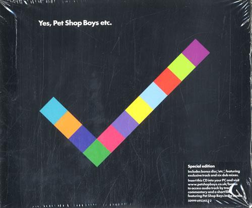 Pet Shop Boys Yes 2 CD album set (Double CD) UK PSB2CYE462646
