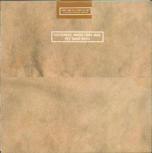 Pet Shop Boys Yesterday When I Was Mad + Slipcase 2-CD single set (Double CD single) UK PSB2SYE33714