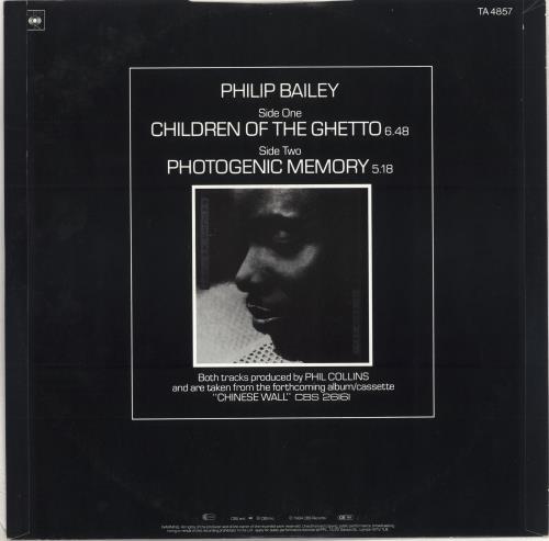 """Philip Bailey Children Of The Ghetto 12"""" vinyl single (12 inch record / Maxi-single) UK PLB12CH710431"""
