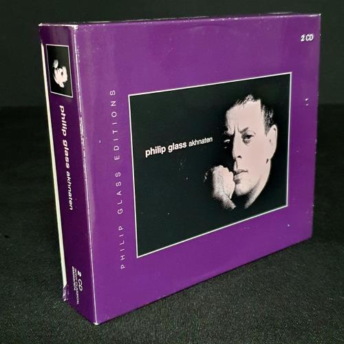Philip Glass Akhnaten 2 CD album set (Double CD) UK PLG2CAK758915